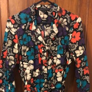 French Connection floral pattern dress